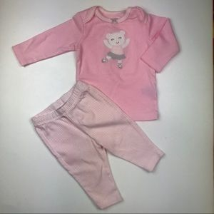 Carters Baby Girl Pink Outfit 3 M Matching Set